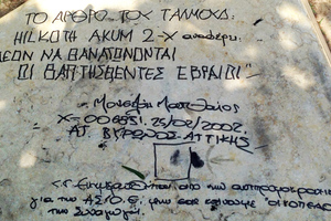 Βεβήλωσαν το Μνημείο του Ολοκαυτώματος στην Αθήνα