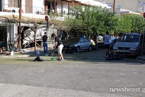 Φωτογραφίες μετά την έκρηξη σε εστιατόριο στη Νέα Ερυθραία