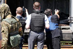 Στο Χάρκοβο το τρένο με τις σορούς των θυμάτων