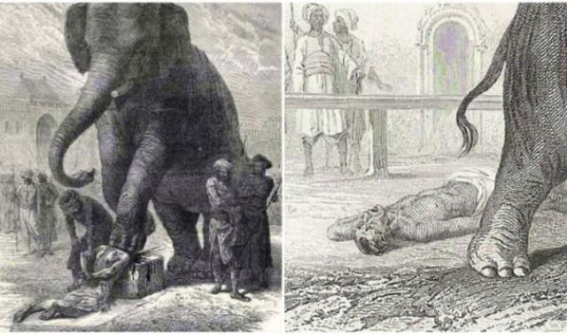 Εκτέλεση με τη βοήθεια ελέφαντα