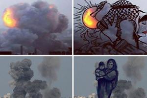 Ο καπνός πάνω από τη Γάζα γίνεται… τέχνη