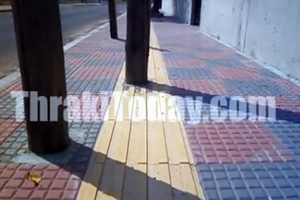 Κίνδυνος για τους τυφλούς κολόνα στην Ξάνθη