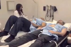 Δύο άντρες βιώνουν τους πόνους της γέννας