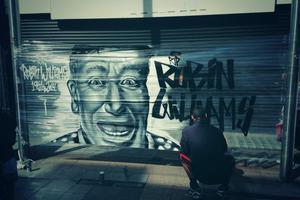 Street artists αποτίουν τιμή στον Ρόμπιν Ουίλιαμς