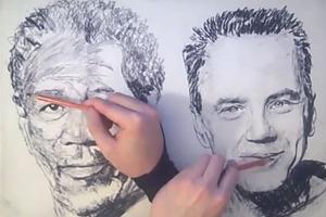 Ζωγραφίζοντας και με τα δύο χέρια ταυτόχρονα