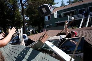 Φωτογραφίες από τις ζημιές των 6,1 Ρίχτερ στην Καλιφόρνια