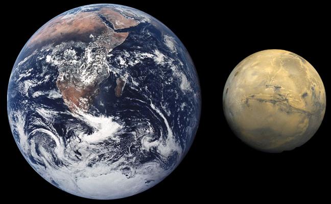 Ο Άρης έχει μικρότερη βαρύτητα από τη Γη