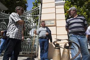 Συγκέντρωση των κτηνοτρόφων στο υπ. Μακεδονίας