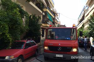 Πυρκαγιά σε δώμα στο Περιστέρι