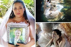 Φωτογραφήθηκε ως νύφη για να «ξορκίσει» το χαμό του αρραβωνιαστικού της