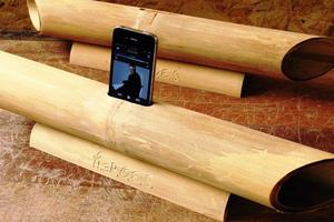 Πρωτοποριακά ηχεία από μπαμπού για smartphones