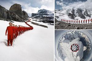 Ορειβάτες κατέκλυσαν τις Άλπεις για μια επική φωτογράφιση