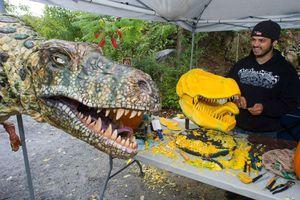 Ένα δεινόσαυρος από κολοκύθα