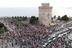 Διαμαρτυρία ενάντια στη σύνοδο κορυφής του ΝΑΤΟ σήμερα στη Θεσσαλονίκη