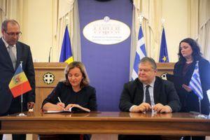 Με την υπουργό Εξωτερικών της Μολδαβίας συναντήθηκε ο Βενιζέλος