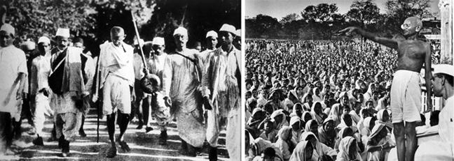 Η κοινωνική ανυπακοή του Γκάντι (1915-1948)