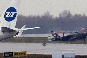 Σκηνές μετά την συντριβή του Falcon στη Μόσχα