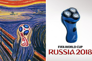 Κάνουν πλάκα με το λογότυπο του Παγκόσμιου Κυπέλλου 2018
