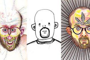 Καλλιτέχνης φτιάχνει το πορτραίτο του υπό την επήρεια ναρκωτικών