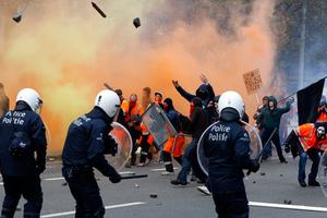 Σκηνικό πολέμου στις Βρυξέλλες