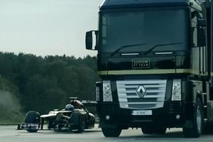 Νταλίκα πήδηξε πάνω από μονοθέσιο της F1