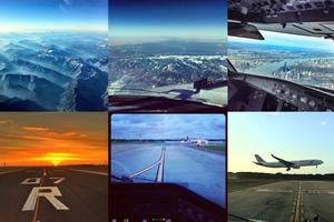 Η θέα από το κόκπιτ του αεροπλάνου