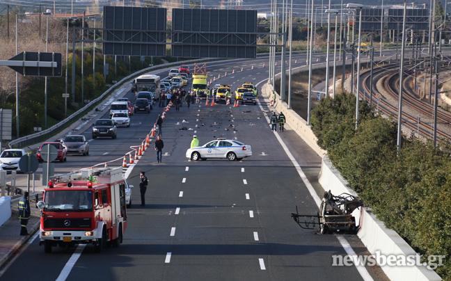 Αυτοκίνητο εξερράγη κοντά στο Ελ. Βενιζέλος - Σύμφωνα με πληροφορίες ήταν παγιδευμένο με εκρηκτικά - Ποιος ήταν ο προορισμός του;