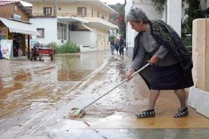 Πλημμυροπαθείς τρεις δήμοι της Κρήτης