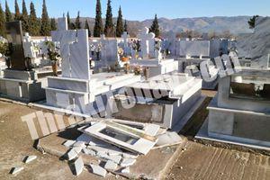 Οι άνεμοι «σήκωσαν» τάφους στον αέρα