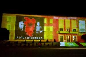 Ο χάρτης της «Μεγάλης Αλβανίας» προβλήθηκε στο πρωθυπουργικό μέγαρο στα Τίρανα