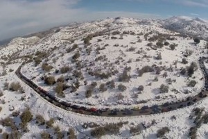 Εντυπωσιακό βίντεο από το χιονισμένο Ψηλορείτη