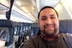 Η πτήση καθυστέρησε και απογειώθηκε με δυο επιβάτες