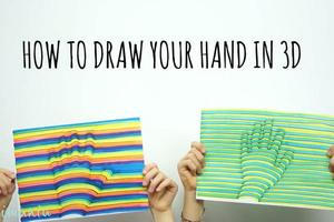 Πώς να ζωγραφίσεις το χέρι σου σε τρεις διαστάσεις