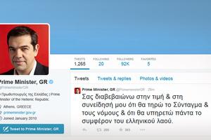 Το πρώτο tweet του Τσίπρα από το λογαριασμό του πρωθυπουργού
