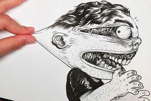 Ο σκιτσογράφος που πλακώνεται με τα δημιουργήματα του