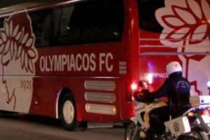 Επίθεση με πέτρες στο πούλμαν του Ολυμπιακού