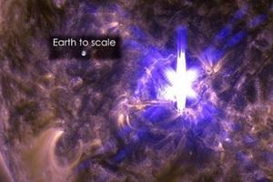 Εντυπωσιακή ηλιακή έκλαμψη κατέγραψε η NASA