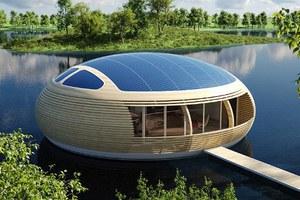 Ένα πλωτό, «ηλιακό», οικολογικό σπίτι
