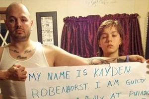 Ο γιος του έκανε bullying σε συμμαθητές του και τον ξεμπρόστιασε
