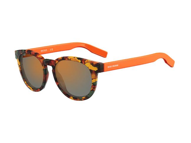 Αυτά τα νέα γυαλιά ηλίου με στρογγυλεμένη φόρμα από ασετάτ διαθέτουν  δυνατές χρωματικές αντιθέσεις μεταξύ του διάστικτου καφέ μπροστινού μέρους  και των ... 0ddaadf6c35