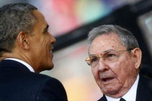 Ιστορική συνάντηση Ομπάμα - Κάστρο