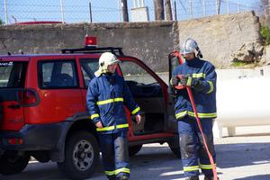 Φωτιά σε γραφείο τελετών στο Ηράκλειο Κρήτης