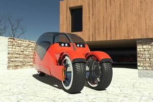 Το αυτοκίνητο που χωρίζεται σε δύο μοτοσικλέτες