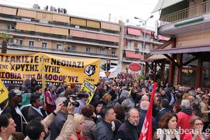 Έδιωξαν τον Νίκο Ορφανό από τη διαδήλωση στον Κορυδαλλό