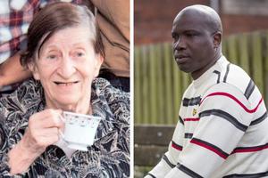 Ο Αφρικανός και η 88χρονη σύζυγός του