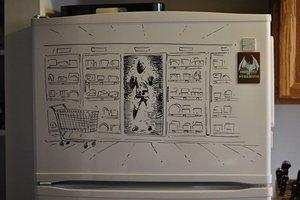 Καλλιτεχνικές ανησυχίες πάνω σε ψυγείο