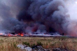 Μάχη με τις φλόγες στον Ασπρόπυργο