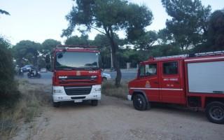 Φωτιά σε νταλίκα στην εθνική οδό κοντά στον Άγιο Κωνσταντίνο