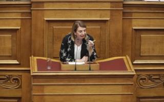 «Παρών» στο άρθρο 56 ψήφισε η βουλευτής Τασία Χριστοδουλοπούλου