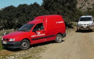 Επιχείρηση διάσωσης στο φαράγγι της Αγίας Ειρήνης στην Κρήτη